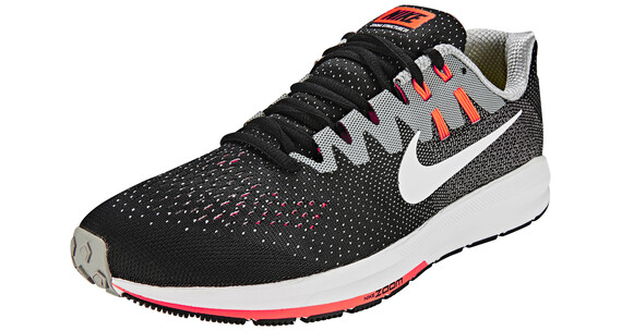 Nike Air Zoom Structure 20 Shoes Men black/white-matte silver-hyper orange